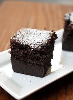 Eva Bakes - Chocolate magic custard one. One batter bakes up into 3 distinct layers!