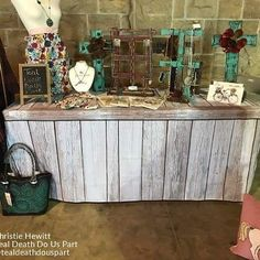 Fabric Faux Wood Table Covers for craft shows or any event from STACK DISPLAYS! Necklace & 96 Best Craft Show Table Covers \u0026 Tablecloths images in 2019 | Table ...