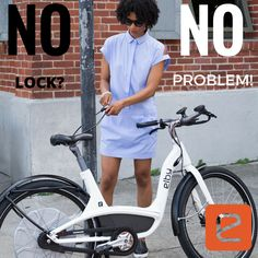 No lock? No problem! #Interlock keeps #ElbyBike safe and secure wherever your ride takes you.