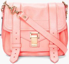 Proenza Schouler Pink Ps1 Neon Coral Pouch Bag
