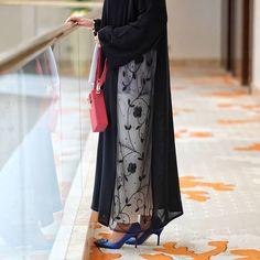 #Repost @flooosha Its all about details #floooshaabayastyle @kh.abayas #abayas #abaya #abayat #mydubai #dubai #SubhanAbayas Abaya Fashion, Fashion Dresses, Abaya Pattern, Modern Abaya, Abaya Designs, Hijab Outfit, Kimono Top, Kimono Abaya, Designer Dresses
