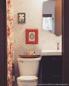 Moroccan Stencils | Moroccan Geometry Stencil | Royal Design Studio Stencils