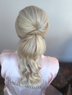 Beautiful ponytails for brides and bridesmaids💕appointments available for 2021 ❤️ Blonde Bridal Hair, Wedding Hair And Makeup, Hair Makeup, Blonde Ponytail, Ponytail Hairstyles, Ponytail Updo, Gold Wedding Theme, Wedding Themes, Best Wedding Hairstyles