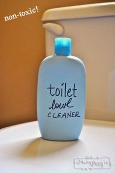 Homemade Toilet Bowl Cleaner Recipe – I will replace the castile soap with dawn dish soap, still environmentally friendly