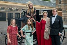 Queen Maxima, King Willem-Alexander of the Netherlands and their daughters Princesses Catharina-Amalia, Alexia and Ariane in The Hague, April 29, 2017