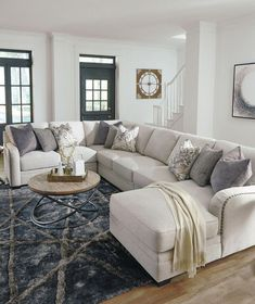 The Dellara Collection Sectional Minimalist Living Room collection Dellara HomeDecorIdeasBeach Sectional Cozy Living Rooms, Living Room Grey, Living Room Interior, Home Living Room, Apartment Living, Living Room Decor, Living Room With Sectional, Gray Sectional, U Shaped Sectional