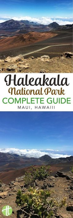 The Ultimate Guide to Haleakala National Park in Maui, Hawaii. Important travel tips whether you are hiking the volcano crater, biking down the summit, planning a sunrise or sunset visit, or considering your tour and driving options. #maui #haleakala #hawaii #nationalpark #findyourpark