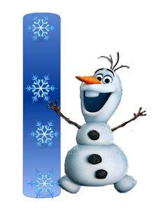 Alfabeto de Frozen con Todos los Personajes.