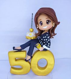 Cake Topper Tutorial, Cake Toppers, Mom Birthday, Birthday Parties, Bithday Cake, Polymer Clay Ornaments, Happy 50th, Mexican Party, Ideas Para Fiestas