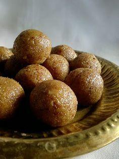 Bellam Kobbari Vundalu ~ Coconut Jaggery Laddu - Gluten Free