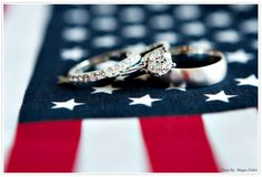 Would be nice to have an American flag at my wedding... Maybe even red white and blue theme?