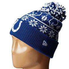 b19650d69c0 Mens   Womens Indianapolis Colts New Era 2016 NFL Fashion Trend Sweater  Chill Cuffed Knit Pom Beanie Hat - Blue