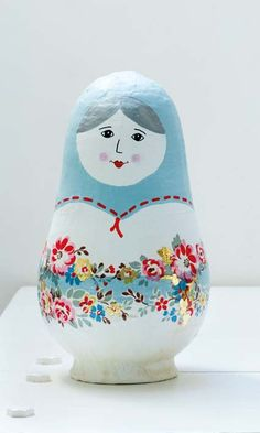 Diy Paper-mache Matryoshka (I had one of these once that was wooden and had all 7 dwarves from Snow White)