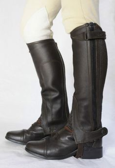 Just-Chaps-Leather-15-OFF-Riding-Half-Chaps-black-brown-adult-child-sizes
