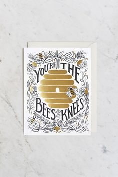 Rifle Paper Co - Single Card - You're the Bees Knees