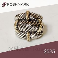 David Yurman XL Sterling 14k Triple Row Cable Ring David Yurman Triple Row Cable Ring - 925 Sterling Silver & 585 14k Yellow Gold - US Size 6  -  Weighs Approx 14 Grams  -  Preowned / Preloved  💕 May Show Slight Signs Of Having Been Worn.   📷  Listing Images Are Of Actual Item Being Offered David Yurman Jewelry Rings