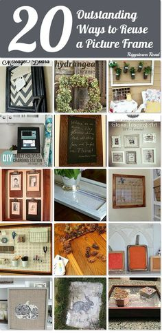 20 outstanding ways to reuse a picture frame ~ it's yard sale time of year and you can pick up frames inexpensively and create to your heart's content!