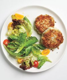 Dijon Fish Cakes With Greens | Make a big splash with these recipes featuring tilapia, the ultimate family-friendly fish.