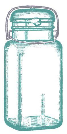 graphic fairy mason jar | Vintage Clip Art - Cute Glass Mason Jar - Label - The Graphics Fairy
