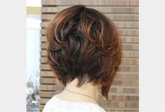 Coiffure Courte Cheveux Épais Balayage Bob
