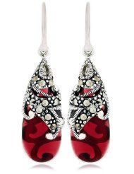 Glass earrings.  (I have a softspot for red things)