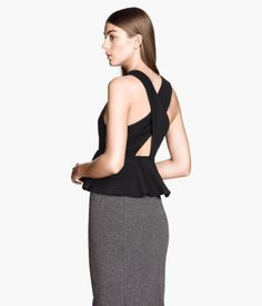 Black top with peplum from H&M.