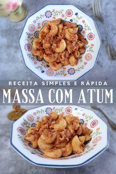Vai convidar amigos para jantar e quer preparar uma receita simples e rápida? Tem aqui a solução, prepare esta deliciosa receita de massa com atum que todos vão adorar! É fácil, rápida e bastante saborosa!! Bom apetite!!! #receita #massa #atum #simples