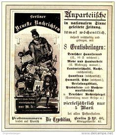 Original-Werbung/Inserat/ Anzeige 1897 : BERLINER NEUESTE NACHRICHTEN - ca. 110 x 120 mm