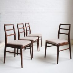 Image of Set of four dining chairs by  Richard Hornby