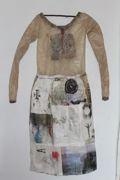 "Cynthia Fusillo - Contemporary, Intuitive, Experimental Art ""The cave you fear to enter holds the treasure you seek"" Joseph Campbell Textiles, Art Textile, Fabric Art, Mixed Media Art, Wearable Art, Collage Art, Fiber Art, Fashion Art, Creations"