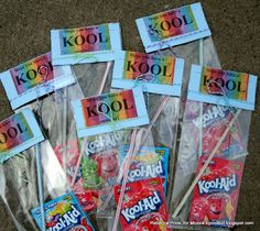 Summer Party Favors Using Kool Aid