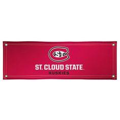 St. Cloud State Huskies 2' x 6' Vinyl Banner - Red - $34.99