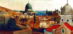 Csontváry Kosztka Tivadar Templomtéri kilátás Jeruzsálemben