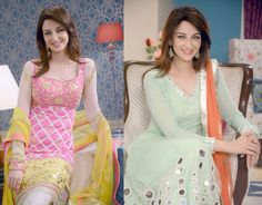 Saumya Tandon Photos aka 'Gori Mem' of Bhabiji Ghar Par Hain! Pakistani Party Wear, Pakistani Wedding Outfits, Salwar Designs, Kurti Designs Party Wear, Indian Attire, Indian Wear, Fashion Tv, Indian Fashion, Indian Designer Outfits