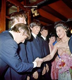 The Beatles With Princess Margaret