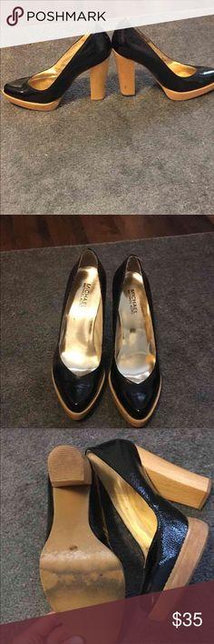 Michael by Michael Kora heels Rubber sole black lantern leather MICHAEL Michael Kors Shoes Heels