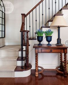 if i had to leave the wooden banisters, this would still be pretty