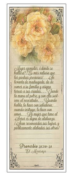 Epílogo: Acróstico a la mujer ejemplar — Proverbio 31:10–31 (Marcadores en Español)