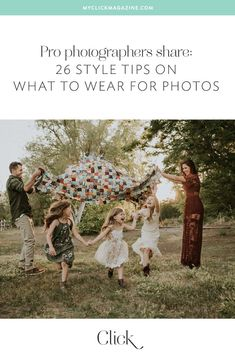What to wear: 26 Style tips to help anyone look amazing in photos Want to know what to wear for photos? Pro photographers share 26 style tips to help anyone look and feel amazing for their next photo session. Family Photos What To Wear, Summer Family Photos, Fall Family Pictures, Fall Photos, Baby Photography Tips, Clothing Photography, Family Photography, Photography Styles, Fall Family Photo Outfits