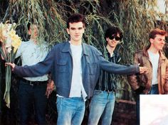 musicianswithflowers:  The Smiths (a rather starring role for Mike Joyce)