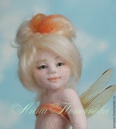 Авторская войлочная кукла Карамельная феечка - бежевый,карамельный,карамелька