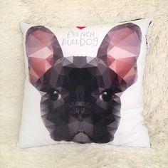 Decorative Pillow I love French Bulldog Black Boy by PSIAKREW