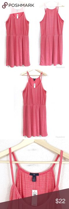 5f350d88d6 GAP Red Coral V-Neck Halter Racerback Casual Dress GAP sleeveless