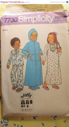 SALE Uncut 1970's Simplicity Sewing Pattern 7730 by EarthToMarrs, $5.60