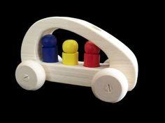 Wooden Van with 3 x People