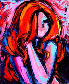 Oil Painting - Nude Painting - Figure Painting - Fine Art - Impasto Palette knife Art - portrait by Aja 20x24 inches Femme 379
