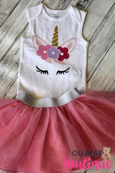 Celebrate her first birthday with a Unicorn themed birthday party! Your little princess will look so adorable in this unicorn onesie. FREE PERSONALIZATION! Add her name or her age for an extra special touch. Perfect outfit for birthday photo shoots and cake smash pictures. Onesie can