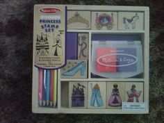 Your little princess will have a ball with a regal collection of detailed stamps, colored pencils and a two-color stamp pad. Includes nine stamps, five pencils and one stamp pad.  Ages 4 and up.