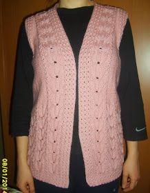 lale desenli yelek, lale modelli yelek, el örgüsü yelek, değişik yelek örgü,handknit,homemade knitting