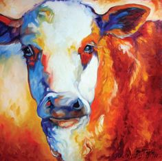 New GRAPHIC ART Canvas Print Rustic Cow Picture WESTERN Decor 24x24 Wall Art 24